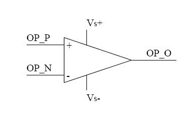 The Schematic Diagram of Basic Operational Amplifier