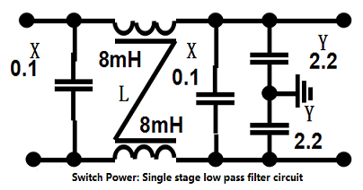 single stage loe pass filter circuit