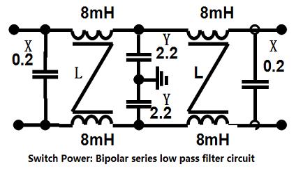 bipolar series low pass filter circuit