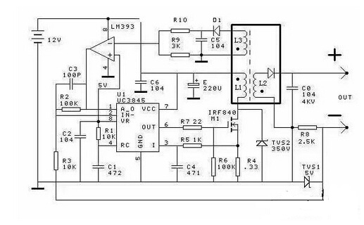 High Voltage Constant Current Source Circuit Diagram(switch power model)