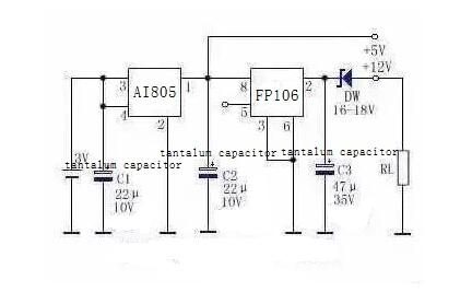 3V→+5V or +12V Circuit